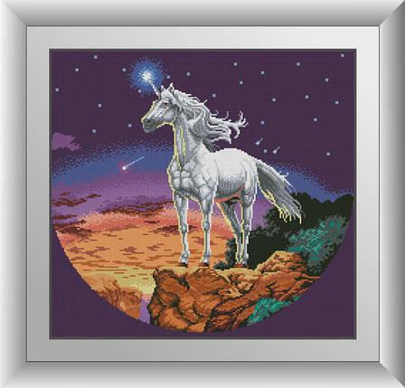 30510 Набір алмазної мозаїки Таємничий единорог, фото 2