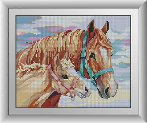 30576 Набор алмазной мозаики С мамой. Лошади., фото 2