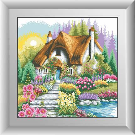 30618 Набір алмазної мозаїки Будиночок з мальовничим садом, фото 2