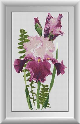 30636 Набор алмазной мозаики Розовый ирис, фото 2