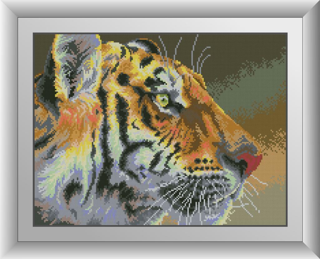 30652 Набір алмазної мозаїки Тигрячий погляд
