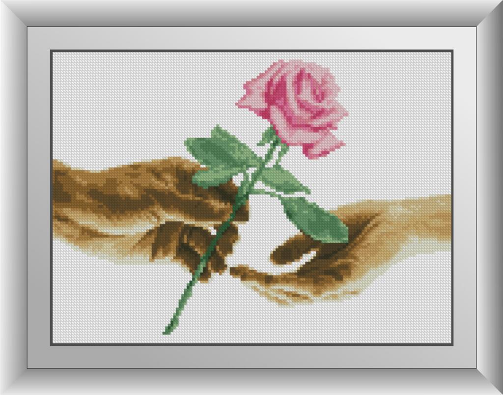 30694 Набір алмазної мозаїки Для тебе. Троянда