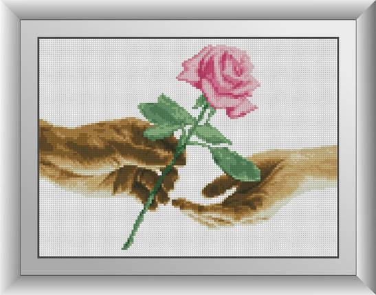 30694 Набір алмазної мозаїки Для тебе. Троянда, фото 2