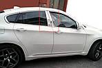 Молдинги на дверные стойки (нерж.) для BMW X6 E-71 2008-2014 гг.