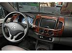 Накладки на панель (14 деталей) для Mitsubishi L200 2006-2015 рр.
