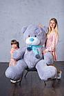Ведмедик з латками Плюшевий Yarokuz Дональд 2 метра Сірий, фото 4