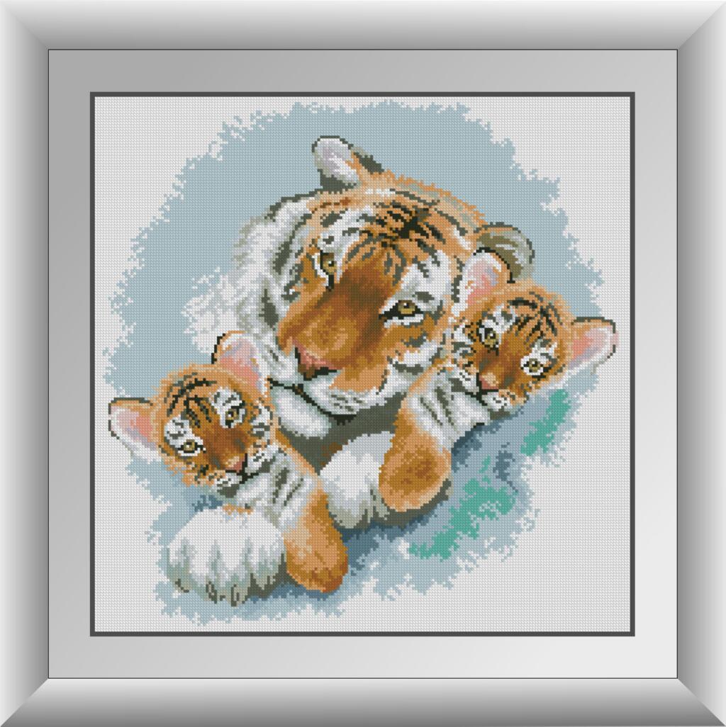 30841 Сім'я тигрів. Набір мозаїки алмазній