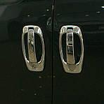 Накладки на ручки ↗ окантовка (4 шт, нерж) Carmos - Турецька сталь для Peugeot Bipper (2008↗)