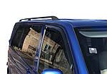 Рейлинги Черные Короткая база, Пластиковые ножки для Volkswagen T6 2015↗, 2019↗ гг.
