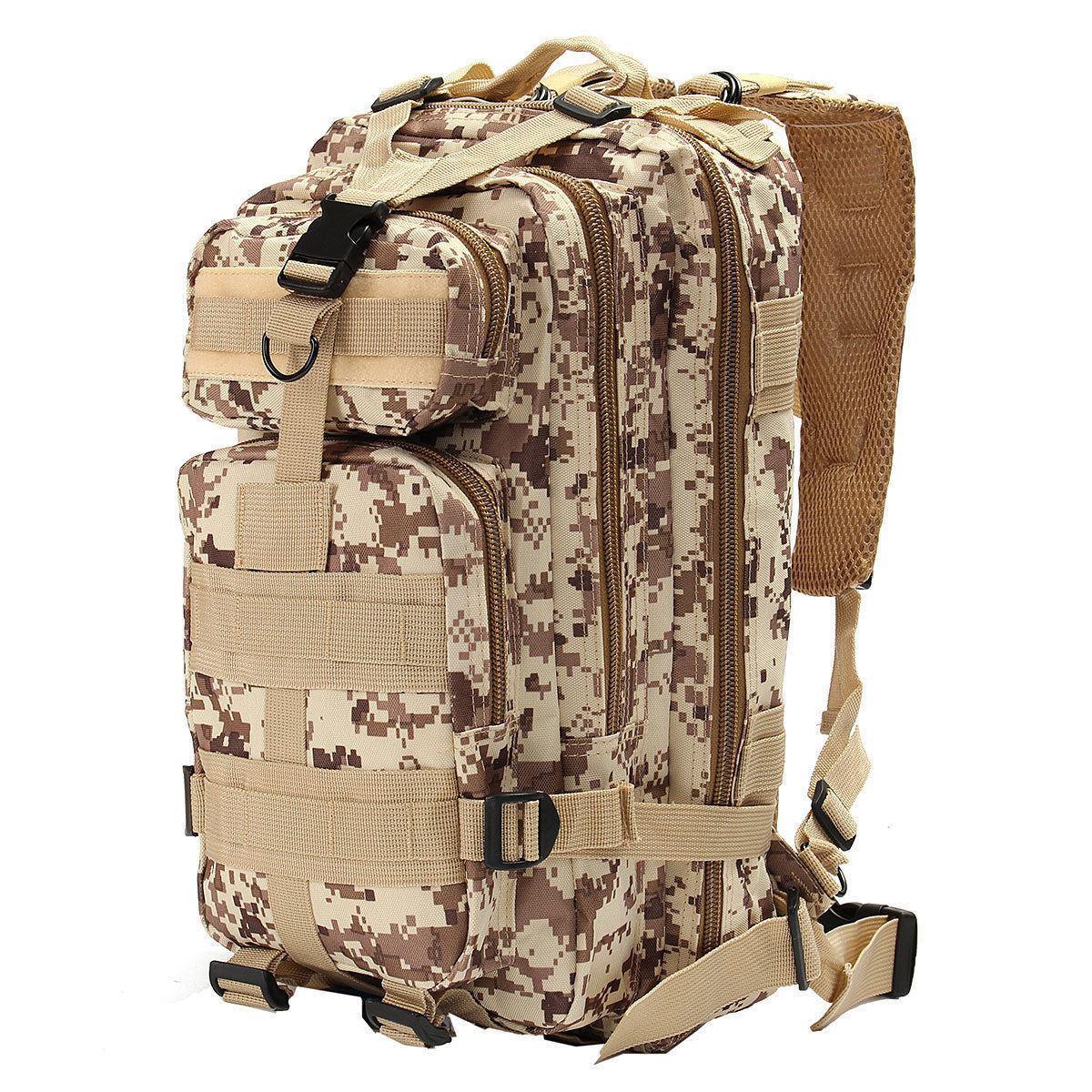 Тактичний, похідний рюкзак Military. 25 L. Камуфляжний, піксель, мілітарі. / T413