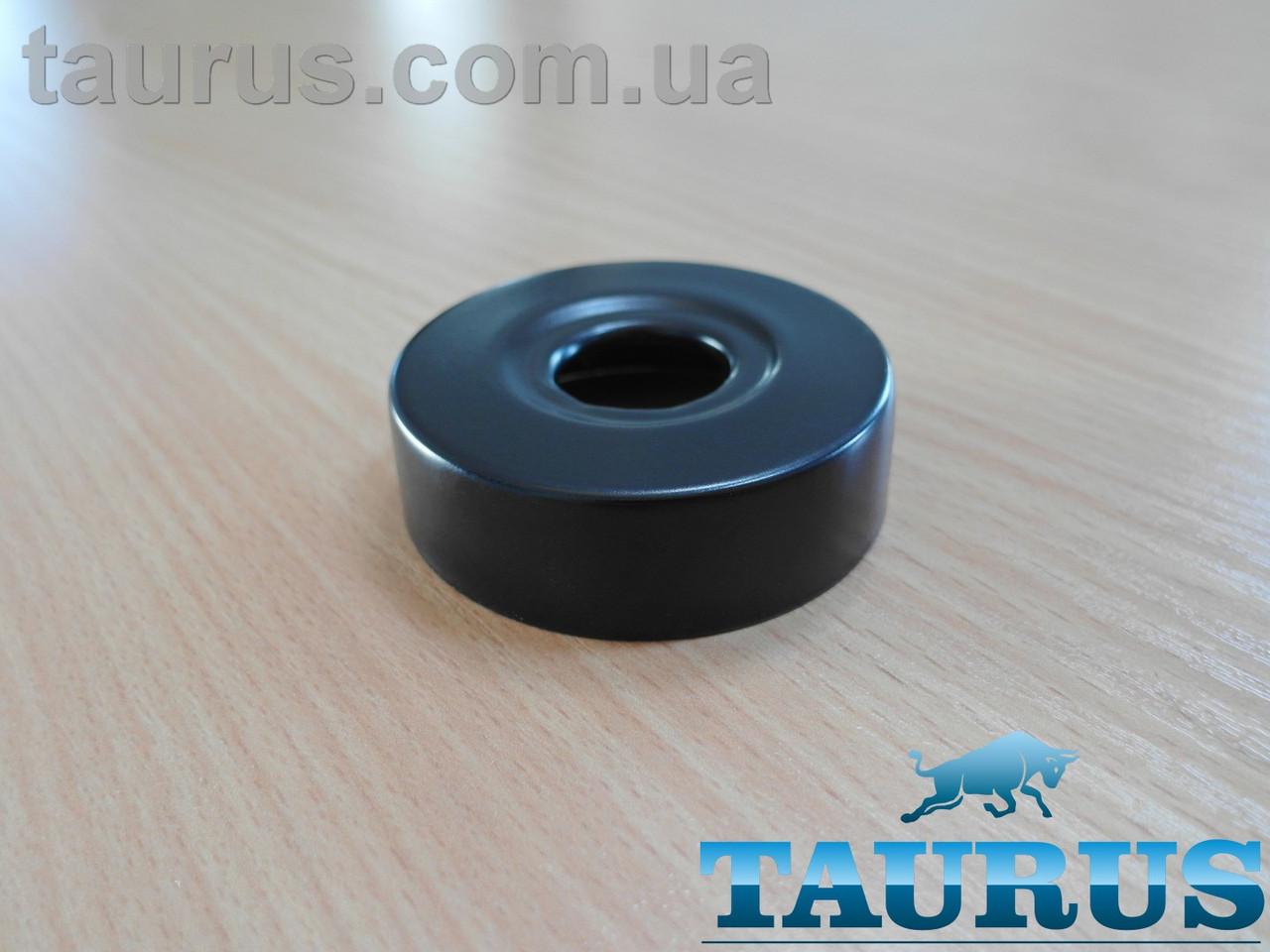 """Чорний високий плоский декоративний фланець D62, висота 19 мм Black, внутрішній розмір 1/2"""" (d20мм) ThermoPulse"""
