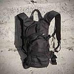 Якісний тактичний рюкзак, туристичний, велосипедний. Чорний, фото 8