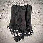 Якісний тактичний рюкзак, туристичний, велосипедний. Чорний, фото 9
