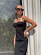 Жіноче приталене плаття завдовжки вище колін, фото 5