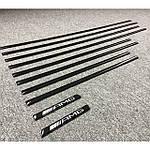Черные молдинги (вставки) для Mercedes G сlass W463 1990-2018 гг.
