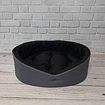 Лежак для собак и котов серый/черный, фото 3