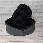 Лежак для собак и котов серый/черный, фото 4