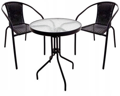 Cадові меблі Jumi Bistro Black-2, фото 2