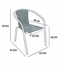 Cадові меблі Jumi Bistro Black-2, фото 3
