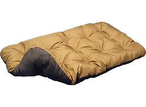 Лежак для собак мелких, средних и крупных пород. Двусторонний Койот + коричневый