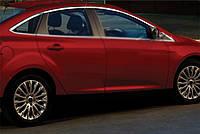 Верхняя окантовка стекол (8 шт, нерж) Хетчбек, OmsaLine - Итальянская нержавейка для Ford Focus III 2011-2017, фото 1