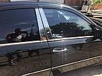 Молдинги дверних стійок (6 шт, нерж) для Mercedes E-сlass W211 2002-2009 рр.