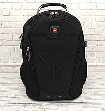 Місткий рюкзак. Чорний. + Дощовик. 35L / s8875 black
