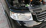 Реснички для фар (2 шт, черные) Черный мат для Volkswagen T5 Transporter 2003-2010 гг.