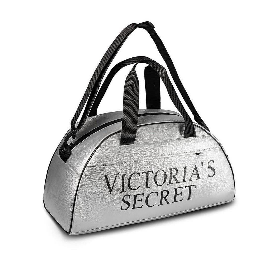 Спортивная фитнес-сумка Victoria's Secret для тренировок. Серебро. Кожзам