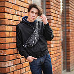Черная Поясная сумка, Бананка, барсетка с принтом найк, Nike., фото 2