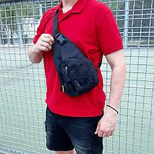 Чорна однолямочная сумка, барсетка пума, Puma.