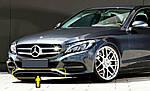 Накладка на бампер (нерж) для Mercedes C-сlass W205 2014-2021 гг.