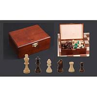 Шахматные фигуры 3167(2044) Staunton N 5 коричневыев дерев.коробке (король-90мм)