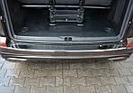 Накладка на задний бампер Omsa Глянец (нерж) для Volkswagen T6 2015↗, 2019↗ гг.
