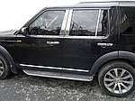 Молдинг дверних стійок (6 шт, нерж.) для Land Rover Discovery IV