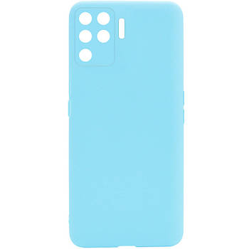 Силиконовый чехол Candy Full Camera для Oppo A94 Бирюзовый / Turquoise
