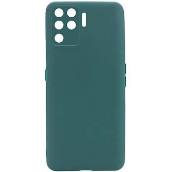 Силиконовый чехол Candy Full Camera для Oppo A94 Зеленый / Forest green