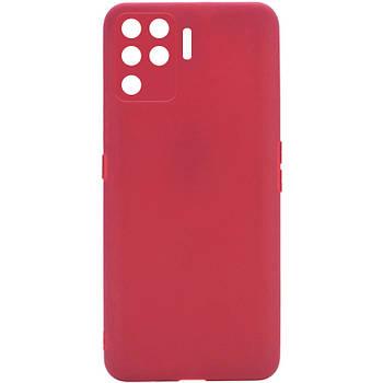 Силиконовый чехол Candy Full Camera для Oppo A94 Красный / Camellia