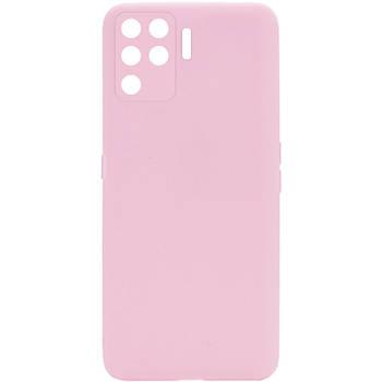 Силиконовый чехол Candy Full Camera для Oppo A94 Розовый / Pink Sand