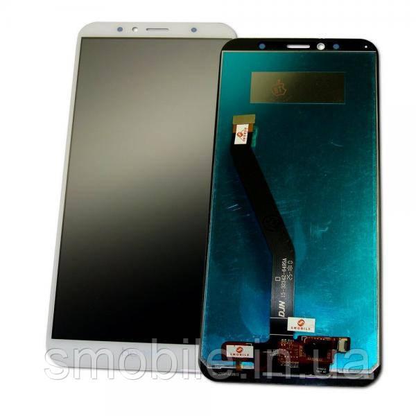 Дисплей Huawei Y6 2018 Honor 7A Pro с сенсором, белый, (логотип - HONOR, оригинальные комплектующие)