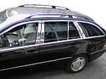 Молдинг дверних стійок (6 шт, нерж.) для Mercedes E-сlass W210 1995-2002 рр.