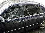 Нижня окантовка стекол (4 шт, нерж) OmsaLine - Італійська нержавійка для Mercedes E-сlass W210 1995-2002 рр.