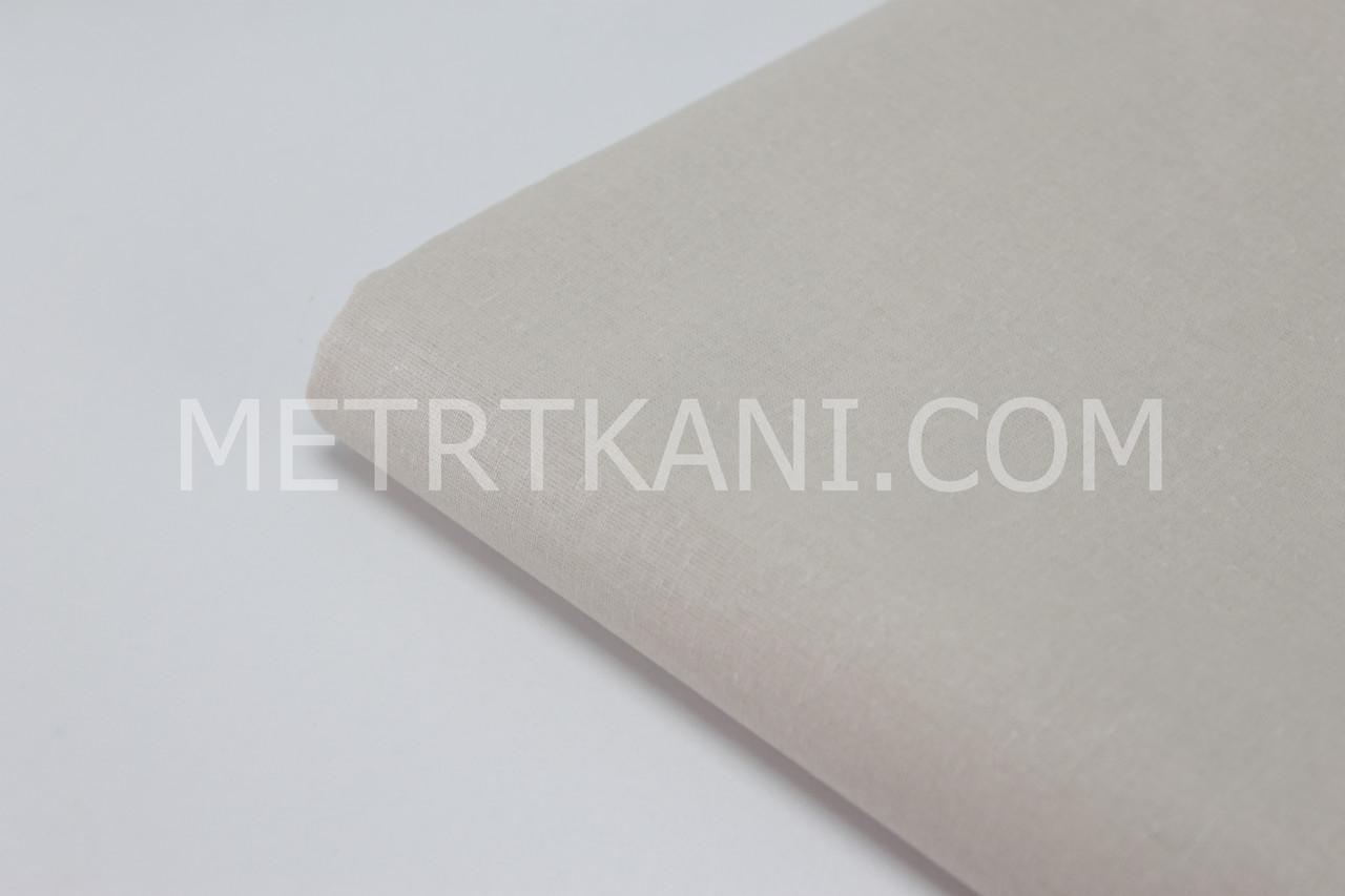 Клаптик. Однотонна польська тканина бежевого кольору 135г/м2, 43*160 см