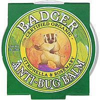 Badger Company, Бальзам для защиты от насекомых с цитронеллой и розмарином, 21 г