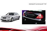 Насадки на глушник V2 (2 шт) для Mercedes E-сlass W211 2002-2009 рр.