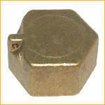 Заглушка латунная (колпак) с контровочным отверствием 1/2`` (внутренняя резьба)