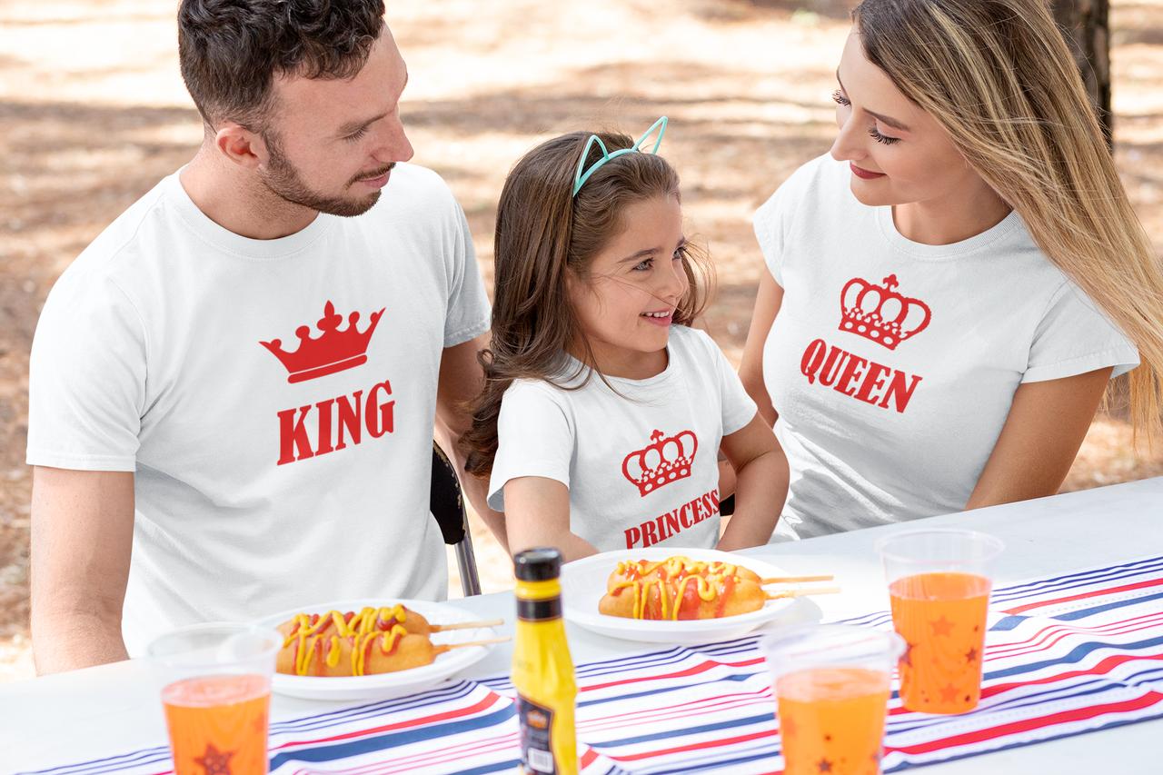 "Family Look / Фемели лук футболки ""King / Queen / Princess"""
