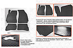 Гумові килимки (4 шт, Stingray Premium) для Skoda Superb (2001-2009)