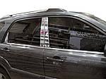 Накладки на стійки (6 шт, нерж) для Kia Sportage (2004-2010)