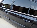 Наружняя окантовка стекол (4 шт, нерж) HB, OmsaLine - Итальянская нержавейка для Renault Megane II 2004-2009